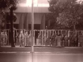 Military Procession archival guns march Stock Footage