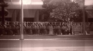 Stock Video Footage of Military Procession archival march