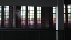 STAINED GLASS RACKED HIGHLINE - stock footage