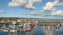 Newlyn harbour time lapse, Cornwall UK. - stock footage