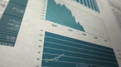 Animated annual report Stock Footage