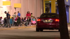 Black Friday -19 Shoppers Camped Outside - stock footage