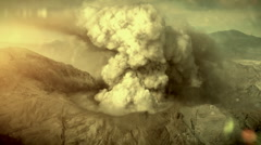 Big eruption of the volcano. - stock footage