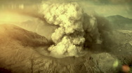 Stock Video Footage of Big eruption of the volcano.