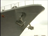 Anchor of a submarine Stock Footage