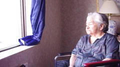 90 year old woman Stock Footage