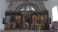 Icon, monastery. Cyprus. Stock Footage
