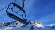 Stock Video Footage of Ski lift sunset