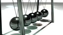 T303 newtons cradle metal Stock Footage