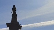 Stock Video Footage of Nelson's Column, London silhouetted V1