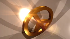 T303 peace symbol symbolic Stock Footage