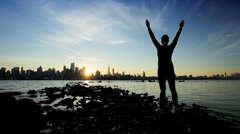 Welcoming a New Day Stock Footage