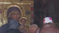 Icon, monastery. Cyprus. Stock Footage