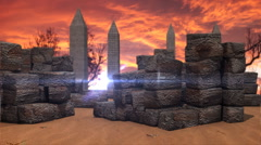 T303 ancient scene egypt egyptian aliens Stock Footage