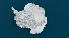 t303 antartica space from above aerial cg cgi frozen - stock footage