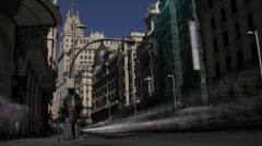 Gran Via, Madrid timelapse Stock Footage