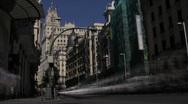 Stock Video Footage of Gran Via, Madrid timelapse