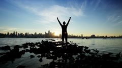 Saluting a New Day - stock footage