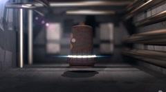 T303 das bell die glocken german science Stock Footage