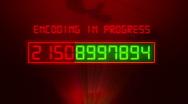 Security code breaking Stock Footage