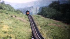 Mt. Washington Railway, New Hampshire, 1958 Stock Footage