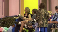 Black Friday - 15 Shoppers Camped Outside - stock footage