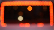 Stock Video Footage of Out of focus front view on the rectangle from blinking lights