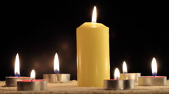 Candles - stock footage