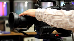 Professional shooting with a Camera Stock Footage