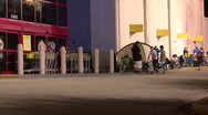 Black Friday - 13 Shoppers Camped Outside Stock Footage