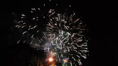 HD: Fireworks in Madrid, Spain World Cup Win 2010 Stock Footage