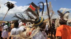 Tribal Dancers Celebrate  Stock Footage