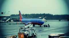 Plane at Terminal Stock Footage