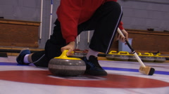 CURLING 11 Stock Footage
