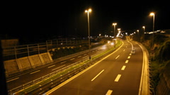 Night traffic time lapes Stock Footage