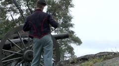 American Civil War Cannon Firing 13 - stock footage