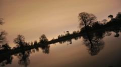 Lake Reflection at Night Timelapse Stock Footage