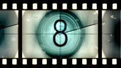 Countdown Filmstrip Stock Footage