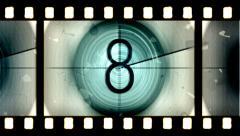 Countdown Filmstrip - stock footage