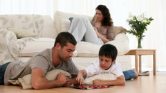 Family playing together Stock Footage