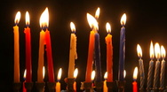 Stock Video Footage of Candles in the Darkness 1080HD