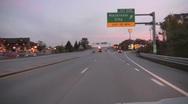 Mackinaw City exit Stock Footage
