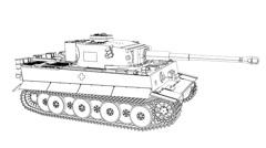 Draw Tiger Tank 1080P - stock footage
