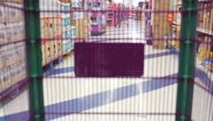 Filling Shopping Cart - stock footage