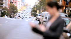 Young Businesswoman Using Wireless Tablet Stock Footage