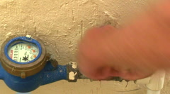 Turning off water supply at meter Stock Footage