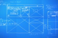 Graphic Design Layout Process Time Lapse Blueprint NTSC - stock footage