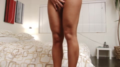 Muscular legs of sexy glamour woman model Stock Footage