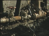 Stock Video Footage of Neglected oil pipes