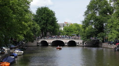 Amsterdam Canal 01 HD - stock footage